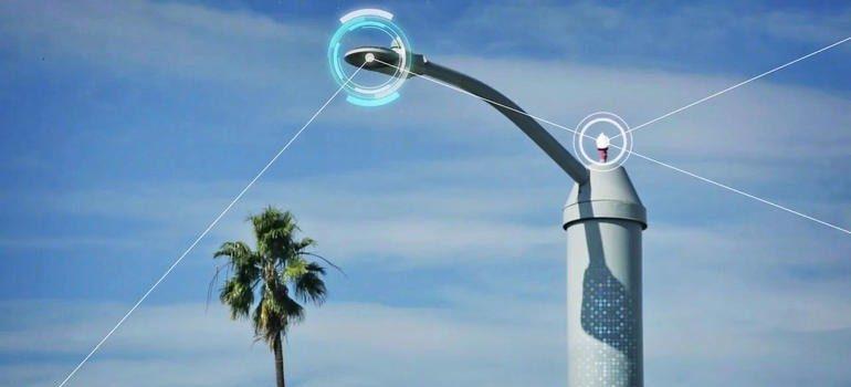 San Diego vai implantar a maior plataforma 'Internet das coisas' do mundo usando postes inteligentes. Foto:Cleantech San Diego.